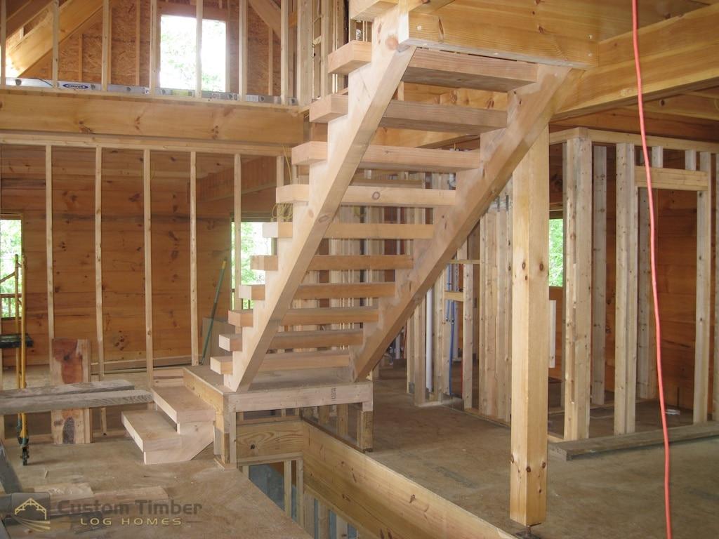 Interior Framing Custom Timber Log Homes