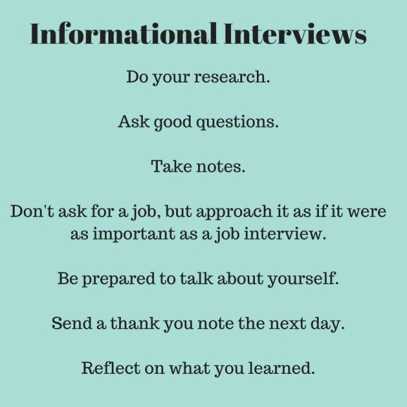 Informational Interviews Learn from Others about a Job or Career