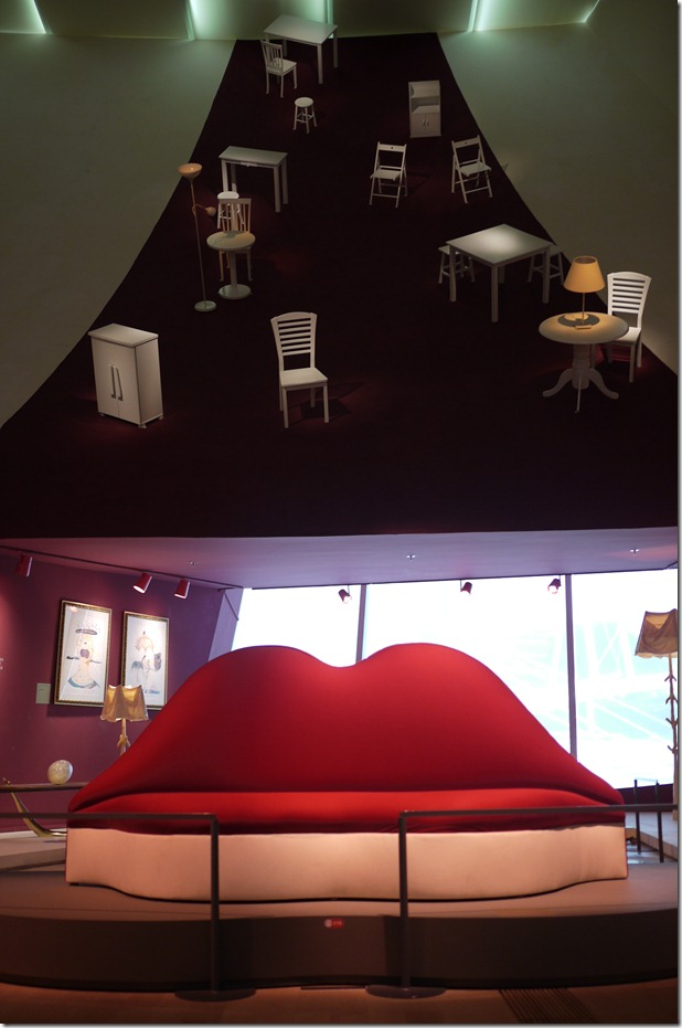 Mae West Lips Sofa Salvador Dali At The Artscience Museum, Singapore