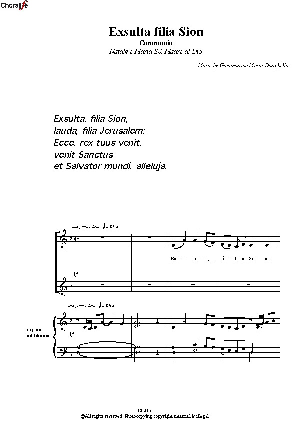 Preview Exulta Filia Sion_3 Voices_Durighello