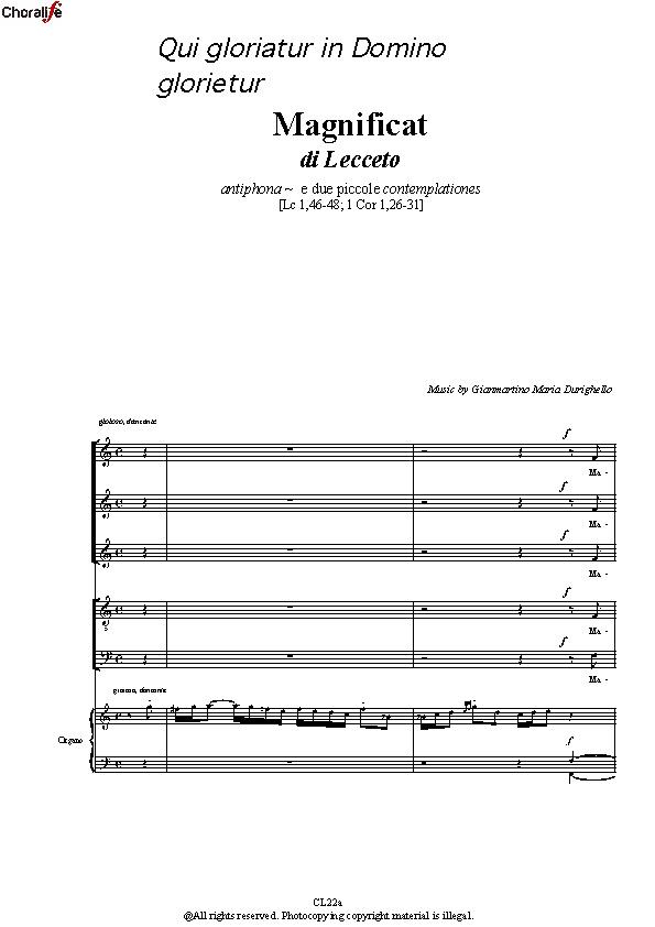 Preview Magnificat_5 Voices_Durighello