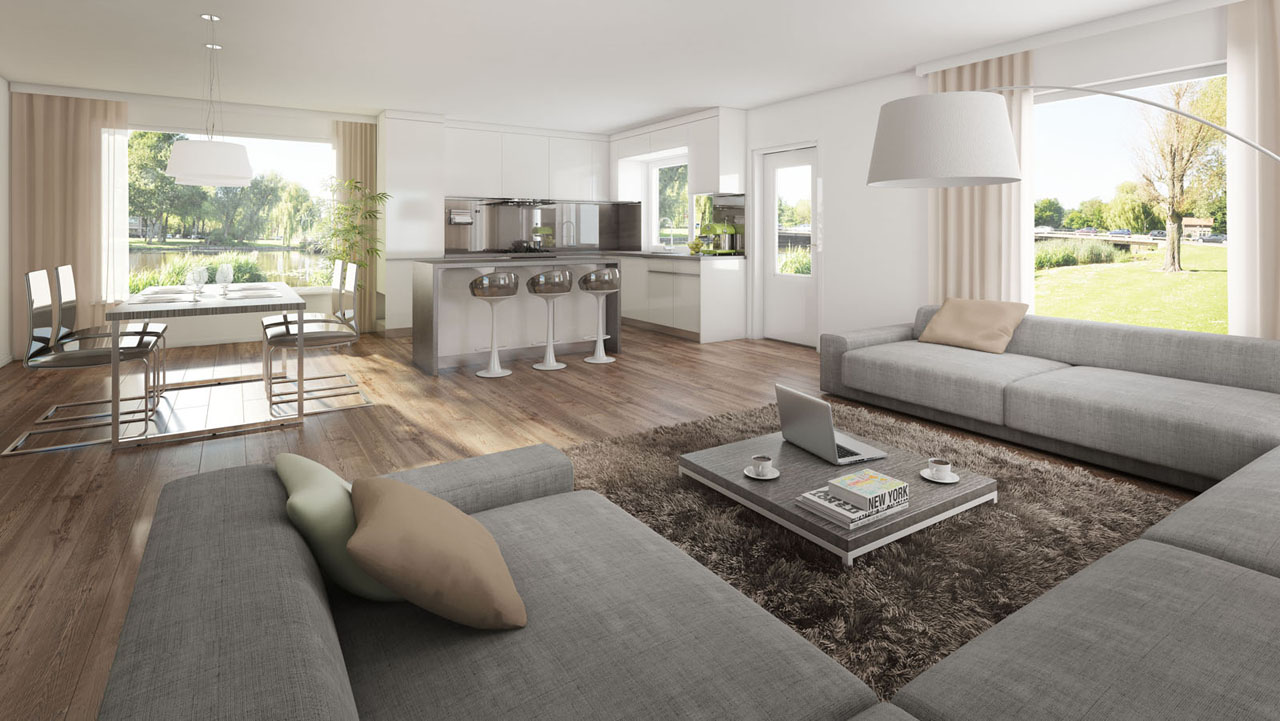 Interieur Impressie Interieur Eethoek 3d Illustratie Stockfoto Of 3d Interieur