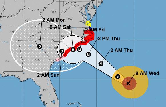 Looks like Hurricane Florence won\u0027t hit us as hard \u2039 CHPN