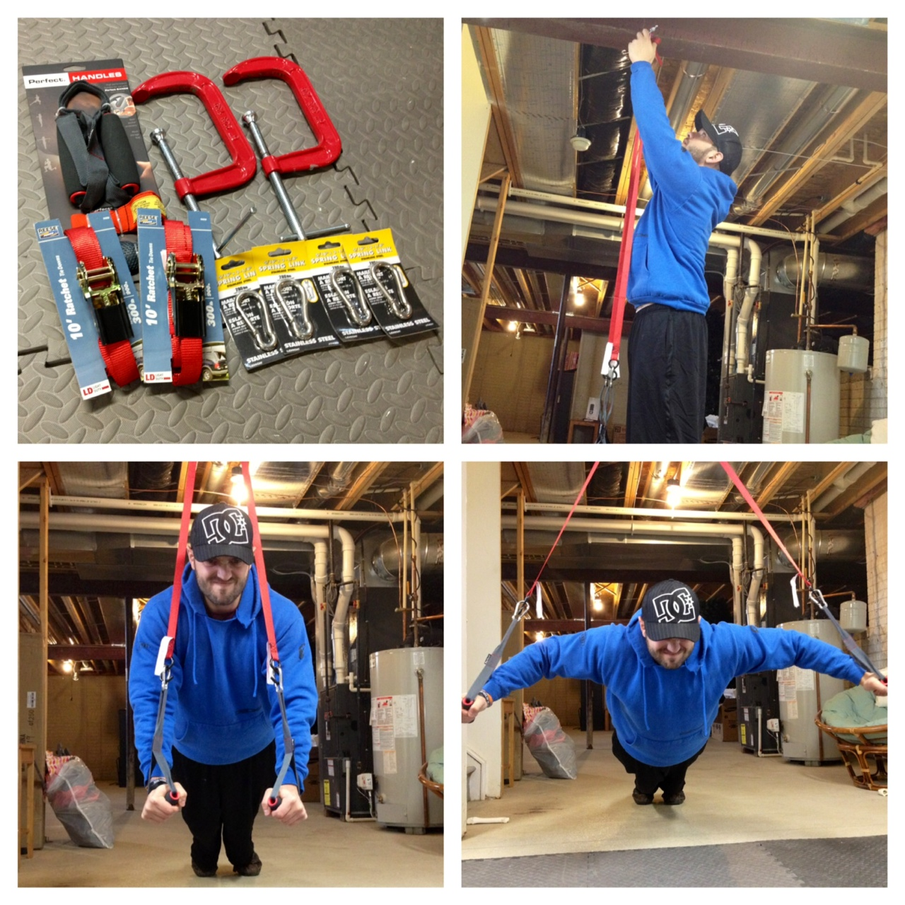 Diy Garage Gym Equipment How To Make Your Own Trx Straps Under 30