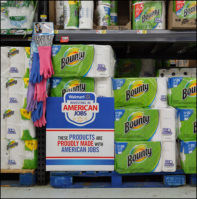 American made products at Walmart Photograph by Christopher Crawford