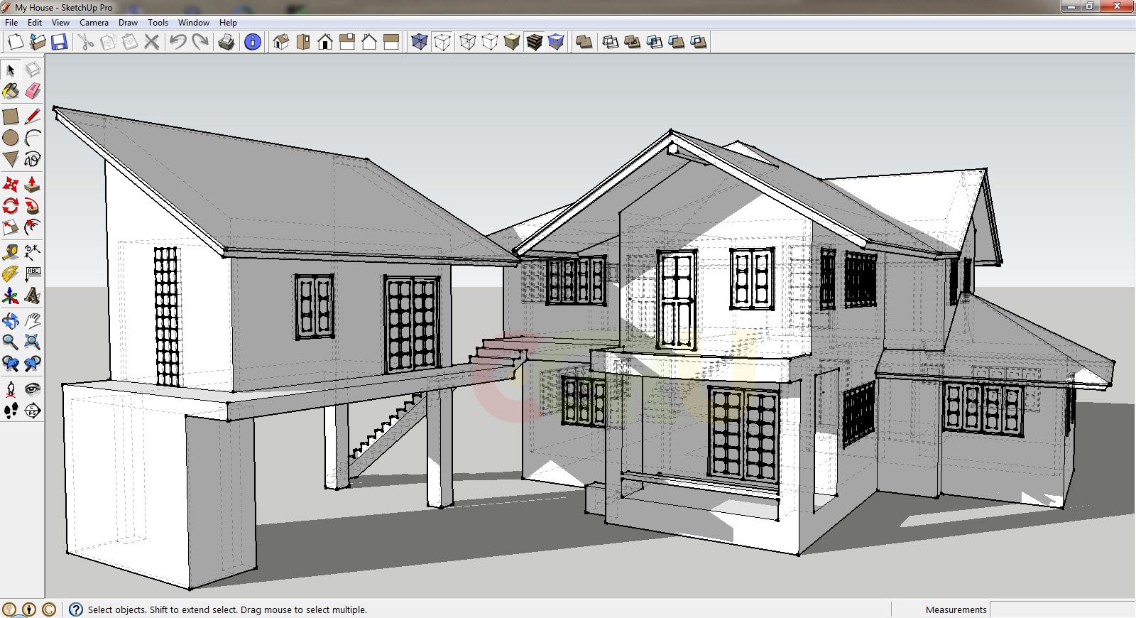 Bangunan 3d Architecture Software Design 1304205059 Chrishilda Flora Meirani