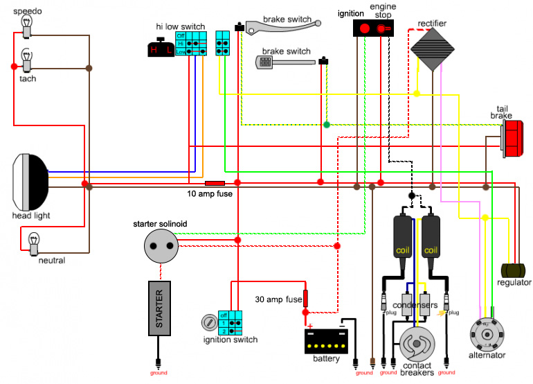 Honda Regulator Wiring Diagram Schematic Diagram