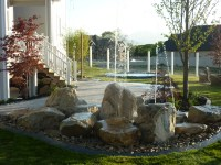 Backyard playground Waterfeature and fire in Utah | Chris ...