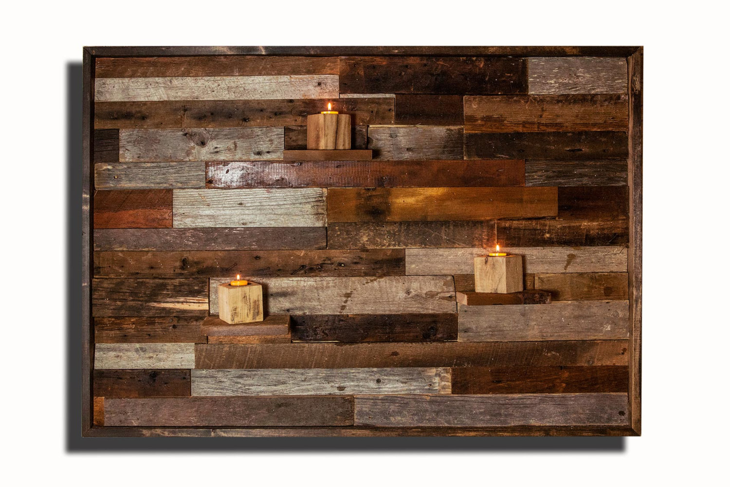 Wall With Wood Wood Wall Art With Floating Wood Shelves Made Of