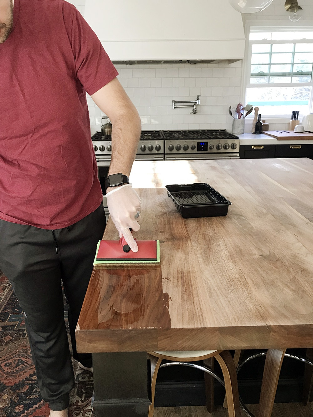 How We Refinished Our Butcher Block Countertop Chris Loves Julia