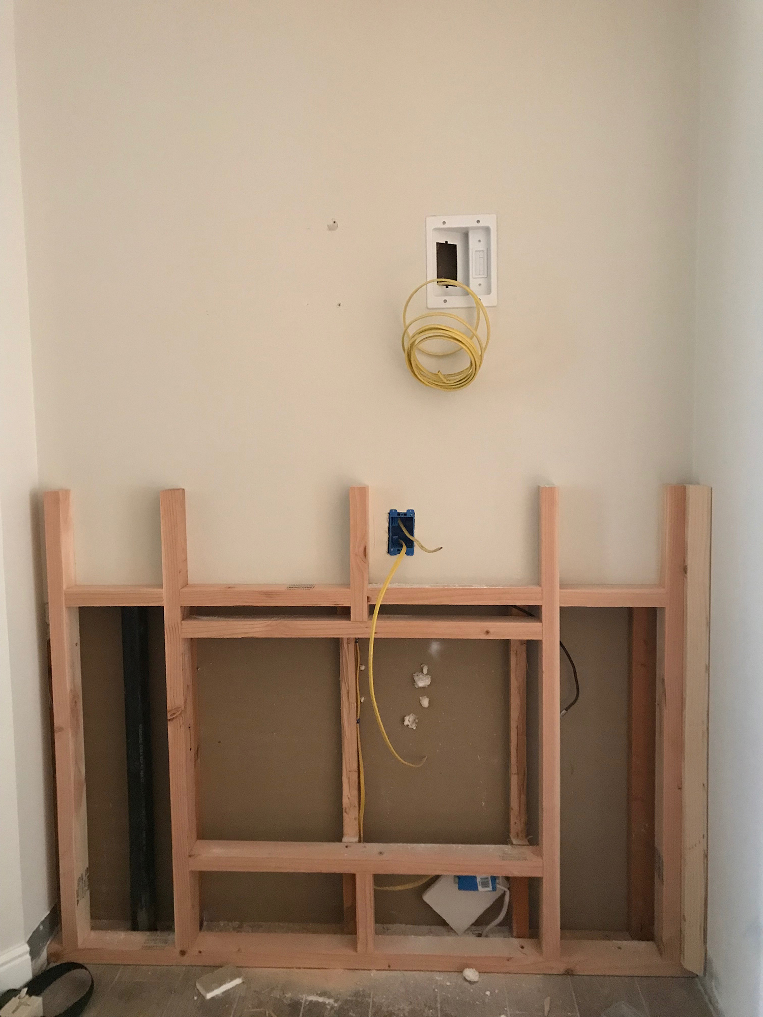 Electric Fireplace Built Into Wall How To Diy A Built In Electric Fireplace Chris Loves Julia