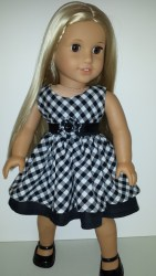 American Girl Doll gingham dress