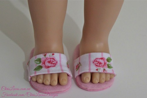 AG Dolls Slippers - fit both American Girl Dolls and Australian Girl Dolls - Chris Lucas Designs