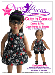 "Cute n Casual Sewing Pattern for 18"" Dolls inc American Girl & Australian Girl dolls"