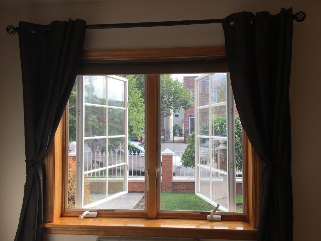 inside window frame curtains mounted inside window frame