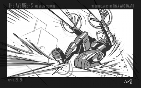 Ryan Woodward Storyboard from The Avengers Storyboards \/ Concept - film storyboards
