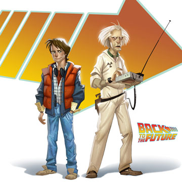 Animated Doc & Marty from Back To The Future: The Game by Concept Artist Ryan Jones
