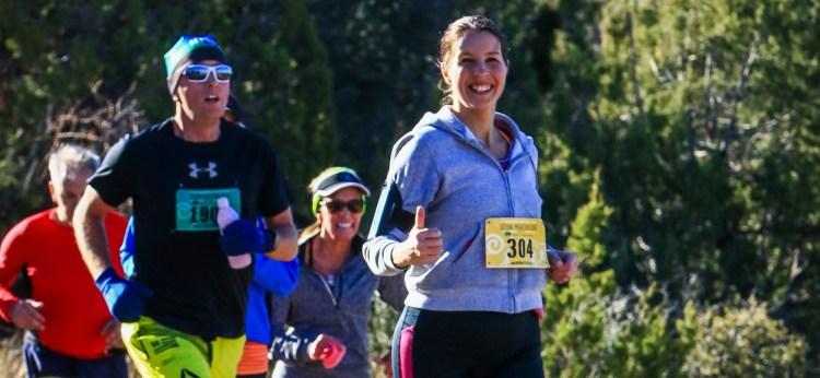 Chris running in marathon