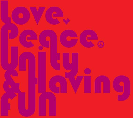 love,peace,& unity -rug