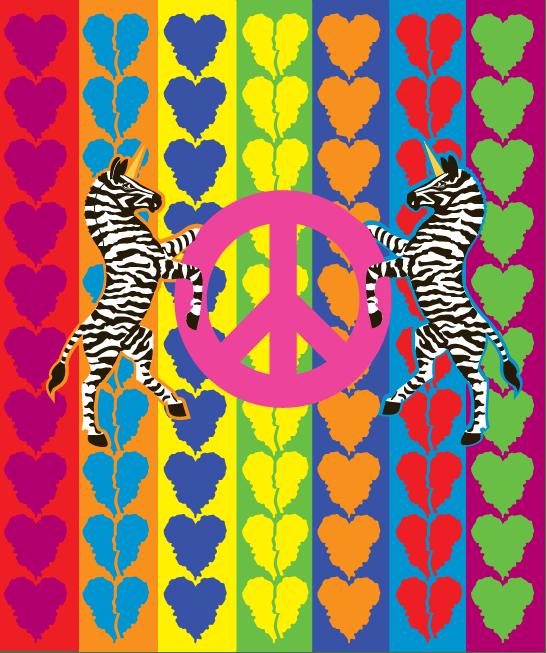 Unicorns Rule! -rug