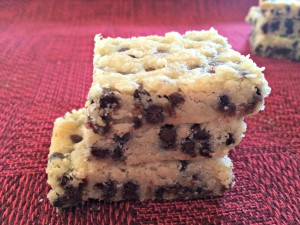 Chocolate Chip Shortbread Bar Cookies