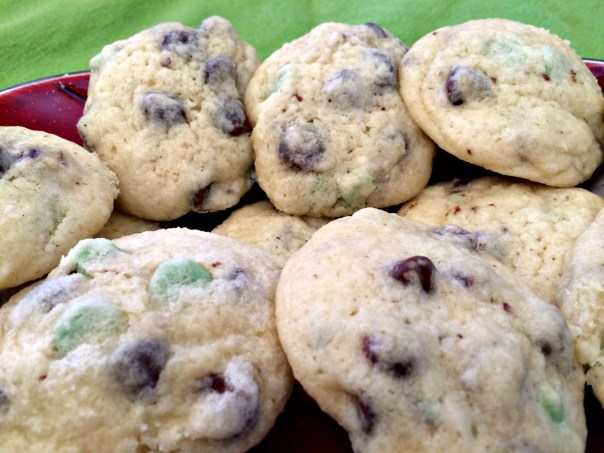 Mint Chip Cookies