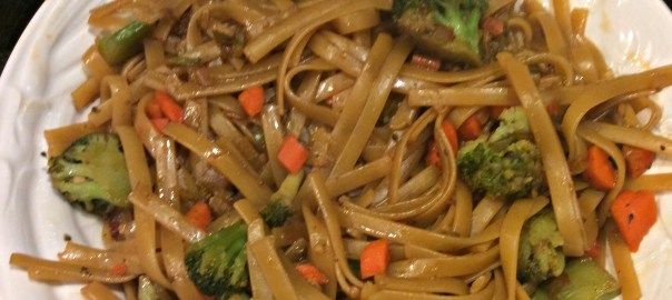 Meatless Asian flavored noodle bowls