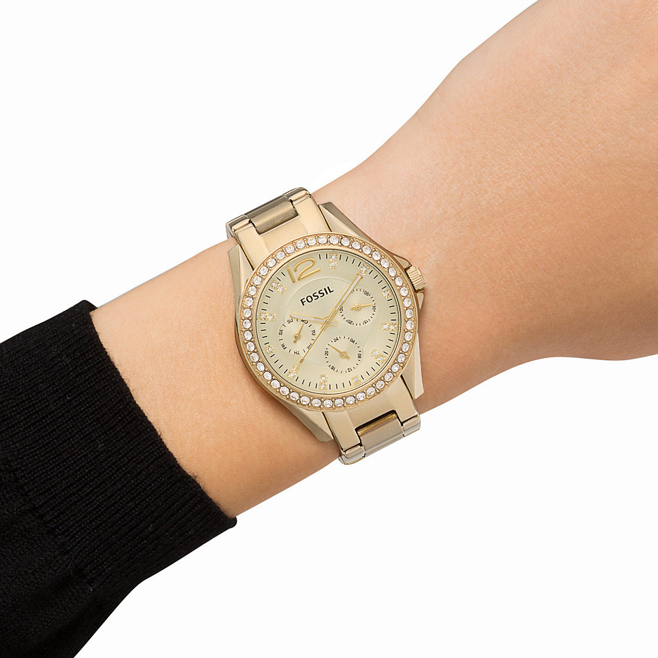 Fossil Riley Promo Harga Fossil Fossil Womens Riley Es2811 Rose Gold Stainless