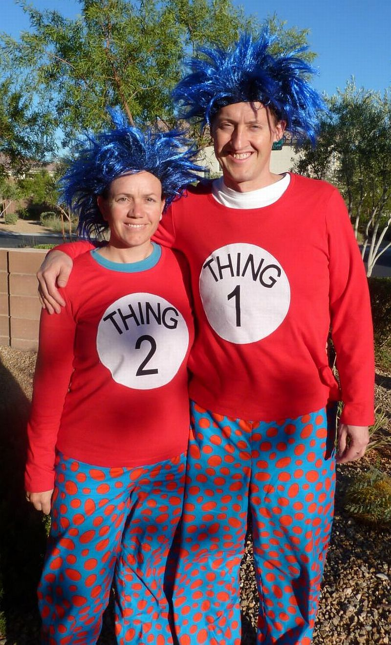 Large Of Thing One And Thing Two Costumes