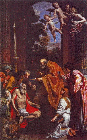 Domenichino, Last Communion Of St Jerome