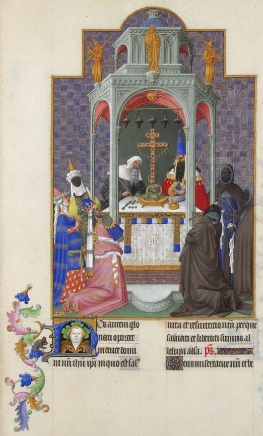 Limbourg Brothers, Exaltation of the Cross