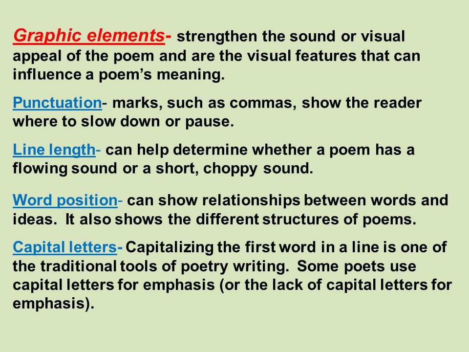 Poetry - Welcome to Mrs Christensen\u0027s GT