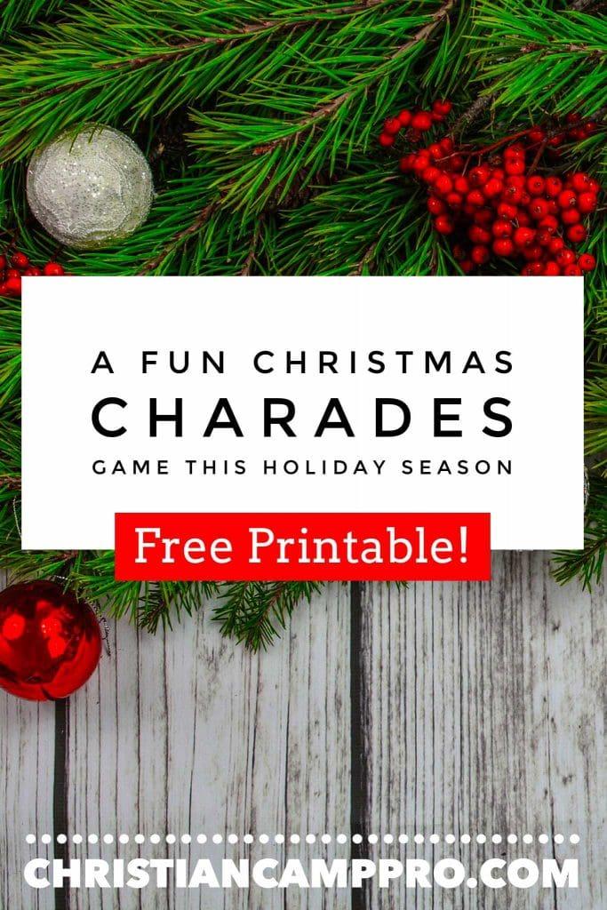 A Fun Christmas Charades Game this Holiday Season (FREE PRINTABLE