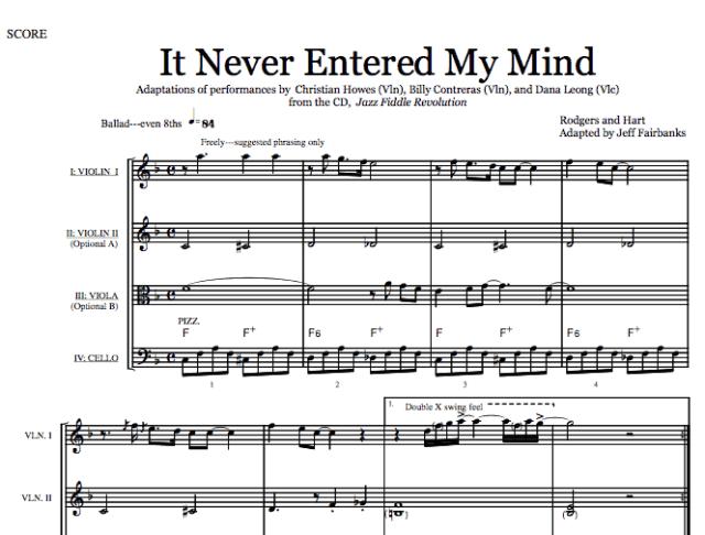 It Never Entered My Mind (Download)