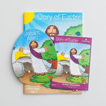 Easter Jesus lives activity gift set kids