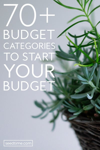 70+ Budget Categories (Your Shortcut To Budgeting Success) - Basic Personal Budget