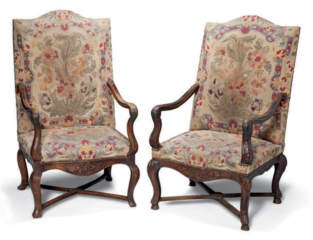 Louis The 14th Furniture Deux Fauteuils Formant Paire De Style Louis Xiv Travail
