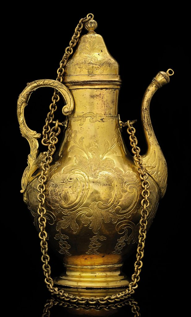 Tombak Metall A Magnificent Ottoman Gilt-copper ( Tombak ) Ewer , Turkey