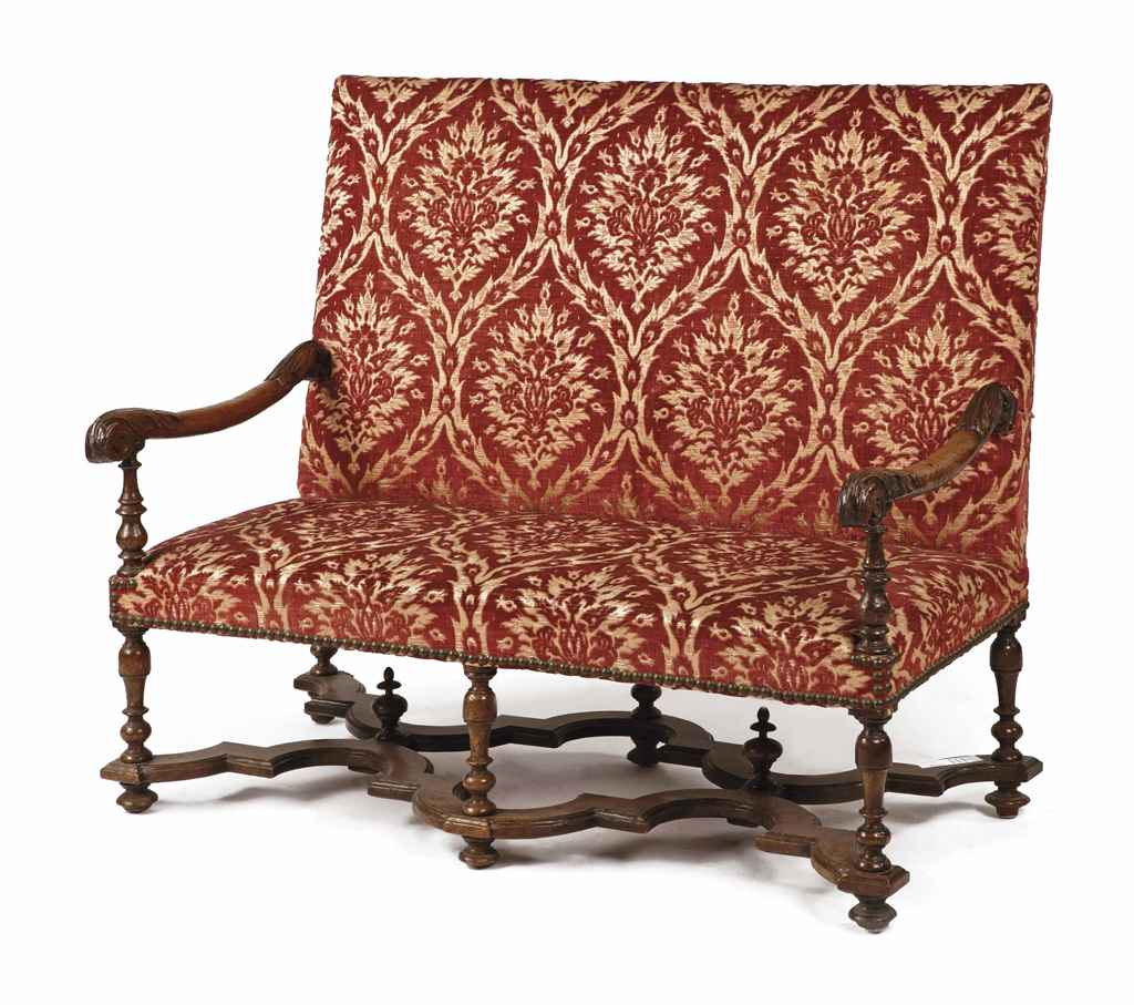 Louis The 14th Furniture A Louis Xiv Walnut Canape Second Quarter 17th Century