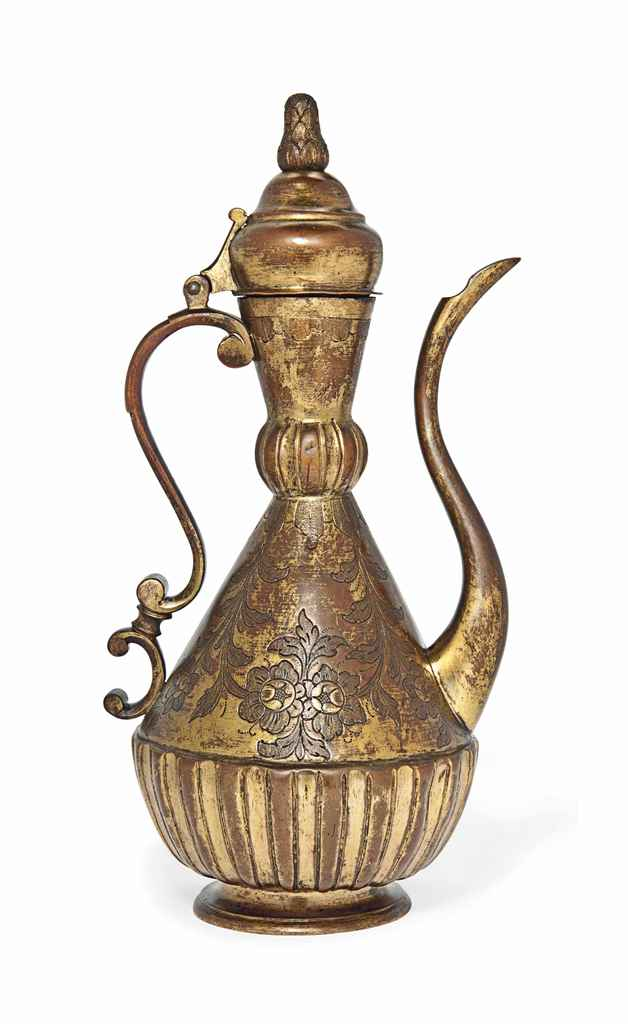 Tombak Metall A Fine Gilt-copper ( Tombak ) Ewer , Ottoman Turkey, 18th