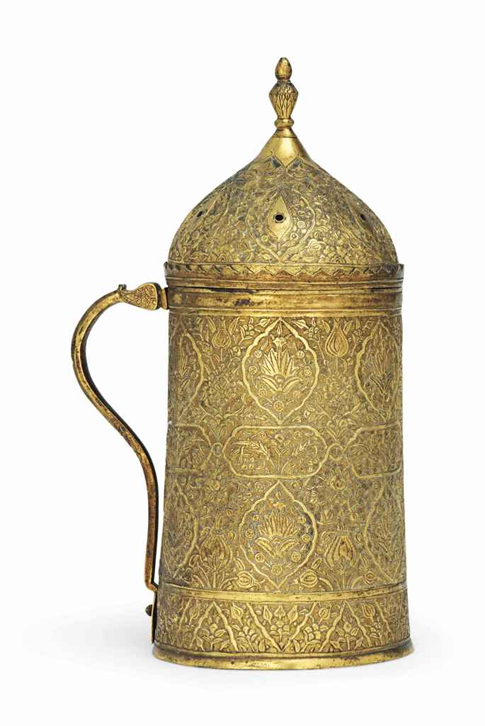 Tombak Metall A Gilt-copper (tombak) Covered Tankard (hanap) , Ottoman