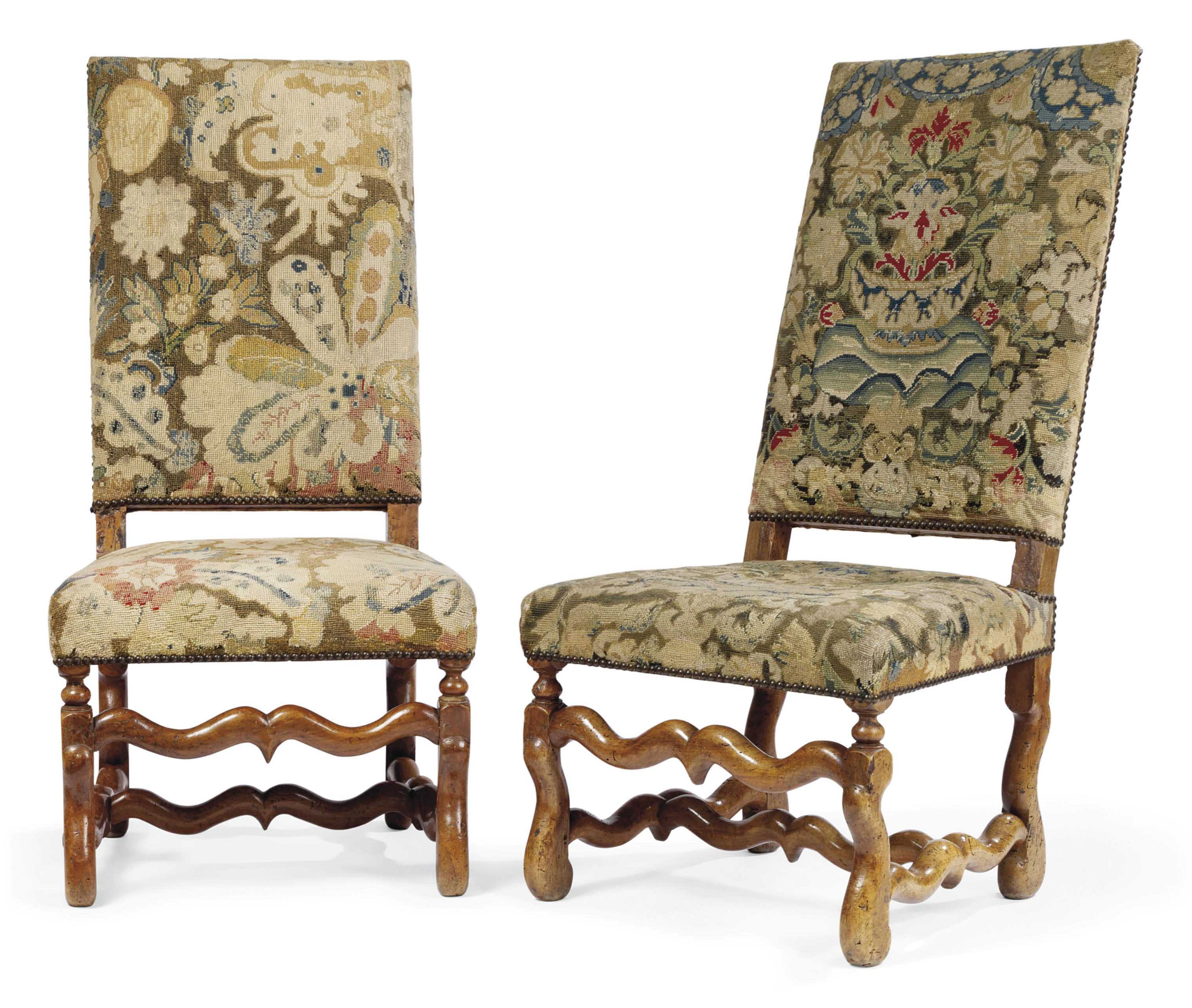 Louis The 14th Furniture A Pair Of Louis Xiv Walnut Side Chairs Early 18th