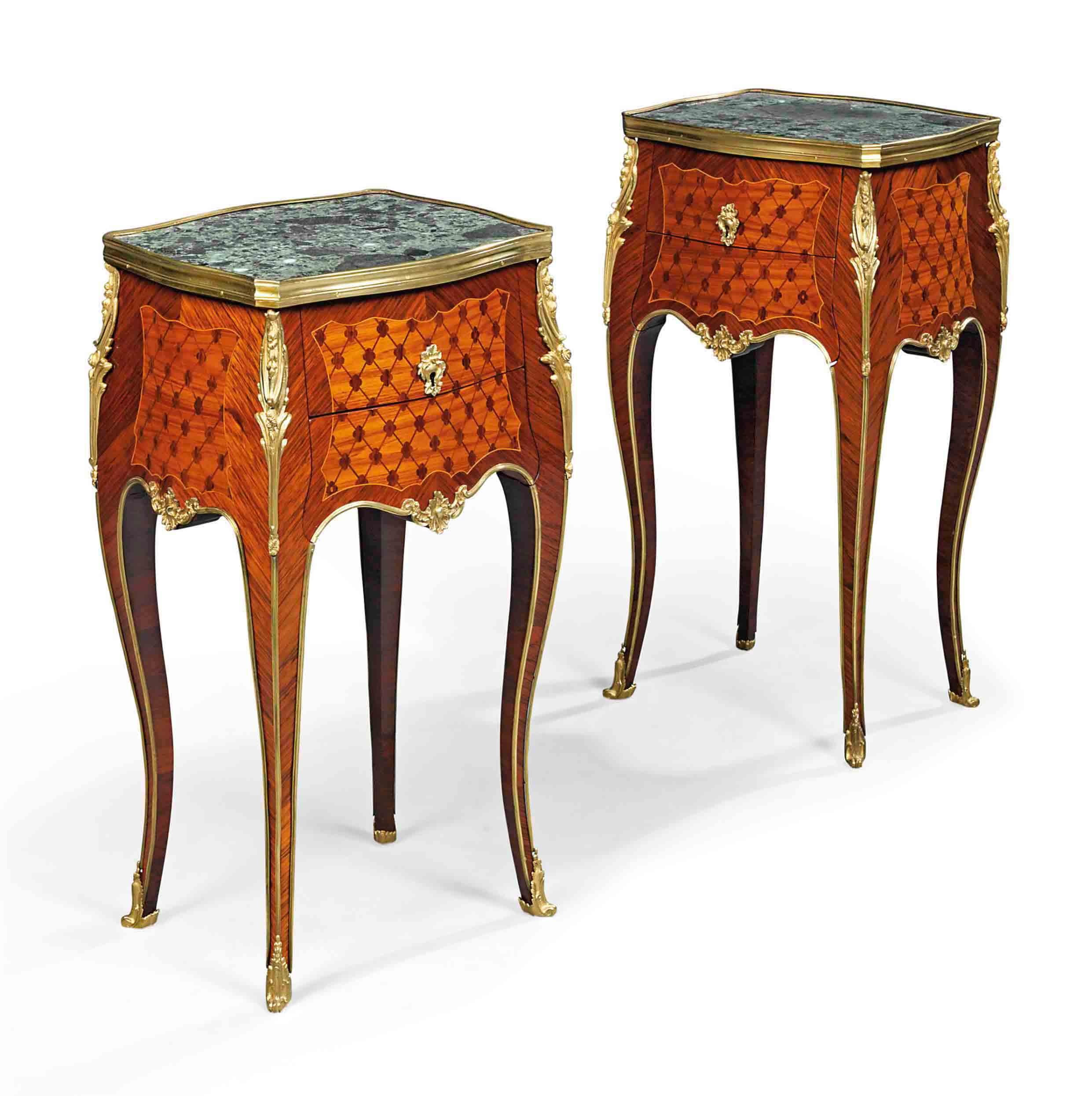 Table De Nuit New York A Pair Of French Ormolu Mounted Tulipwood And Kingwood