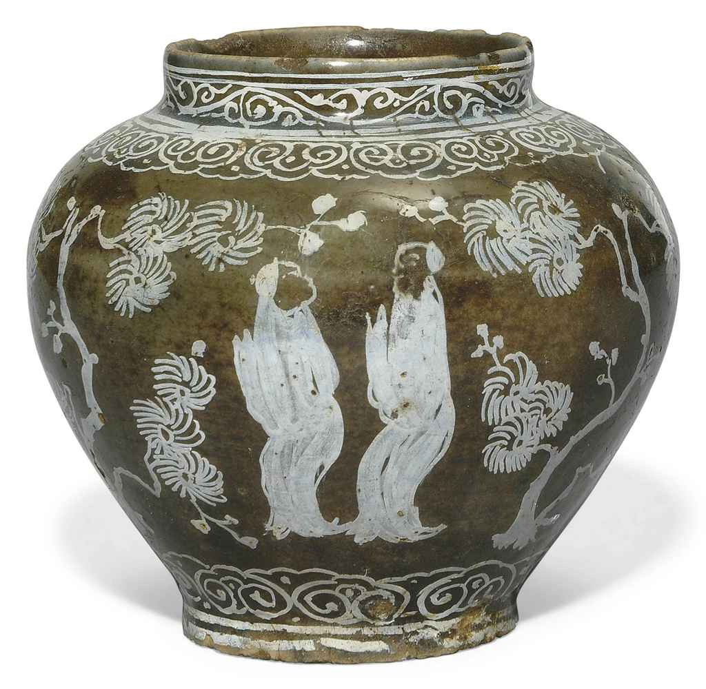 Unique Vases For Sale An Unusual Safavid Pottery Vase Iran 17th Century