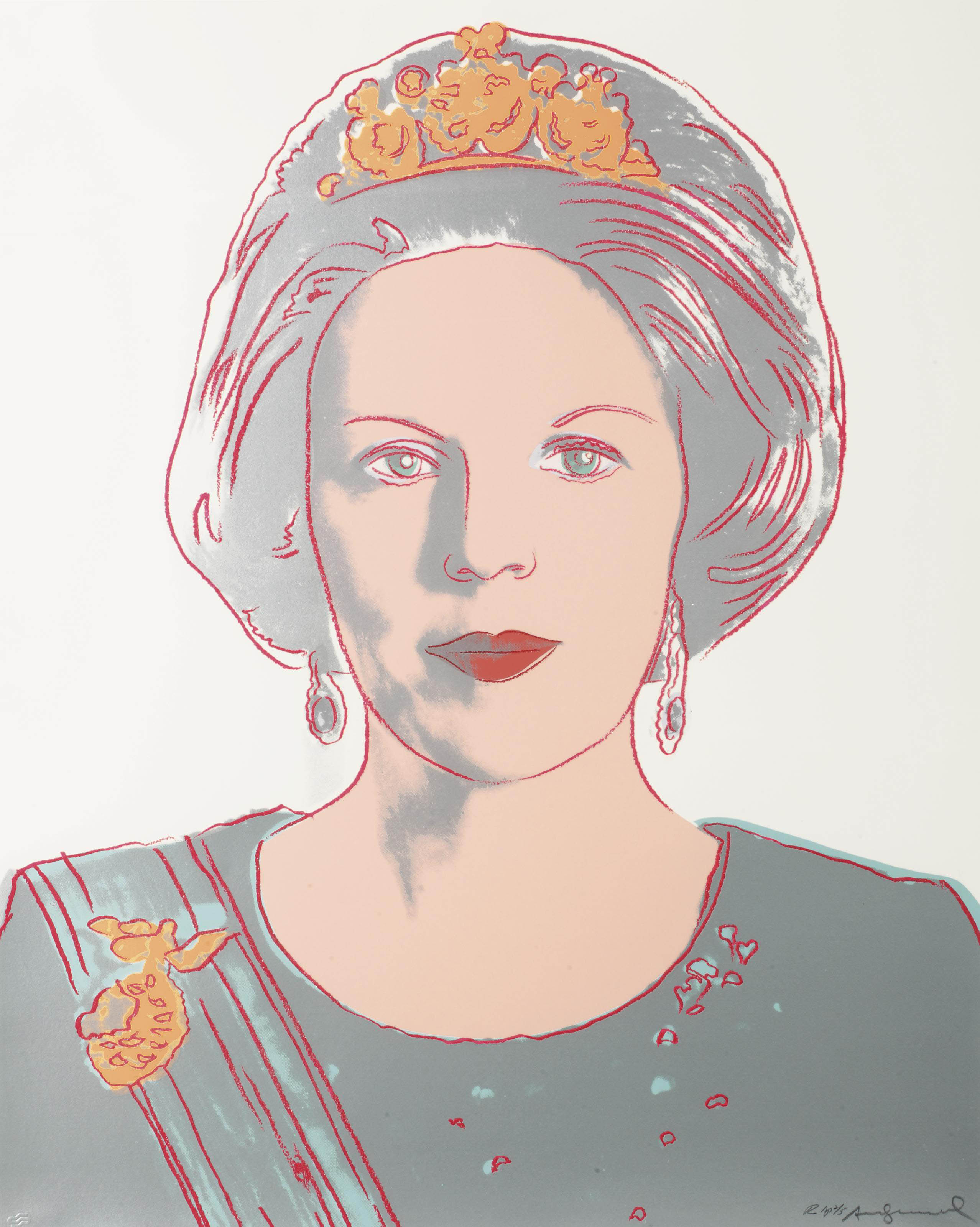 Warhol Amsterdam Andy Warhol 1928 1987 Queen Beatrix Of The Netherlands From