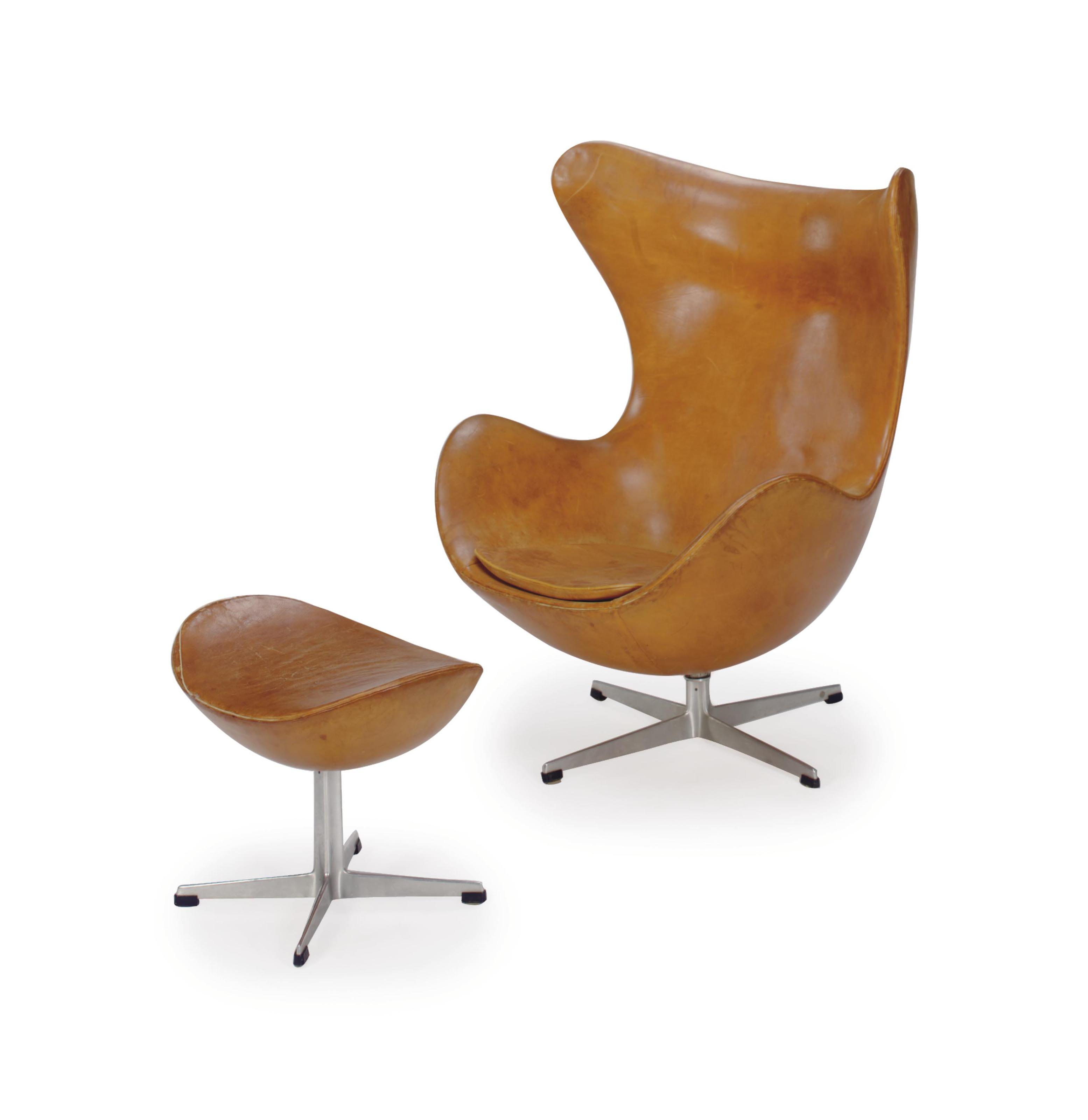 Leather Upholstered Lounge An Aluminum And Leather Upholstered 39egg 39 Lounge Chair And