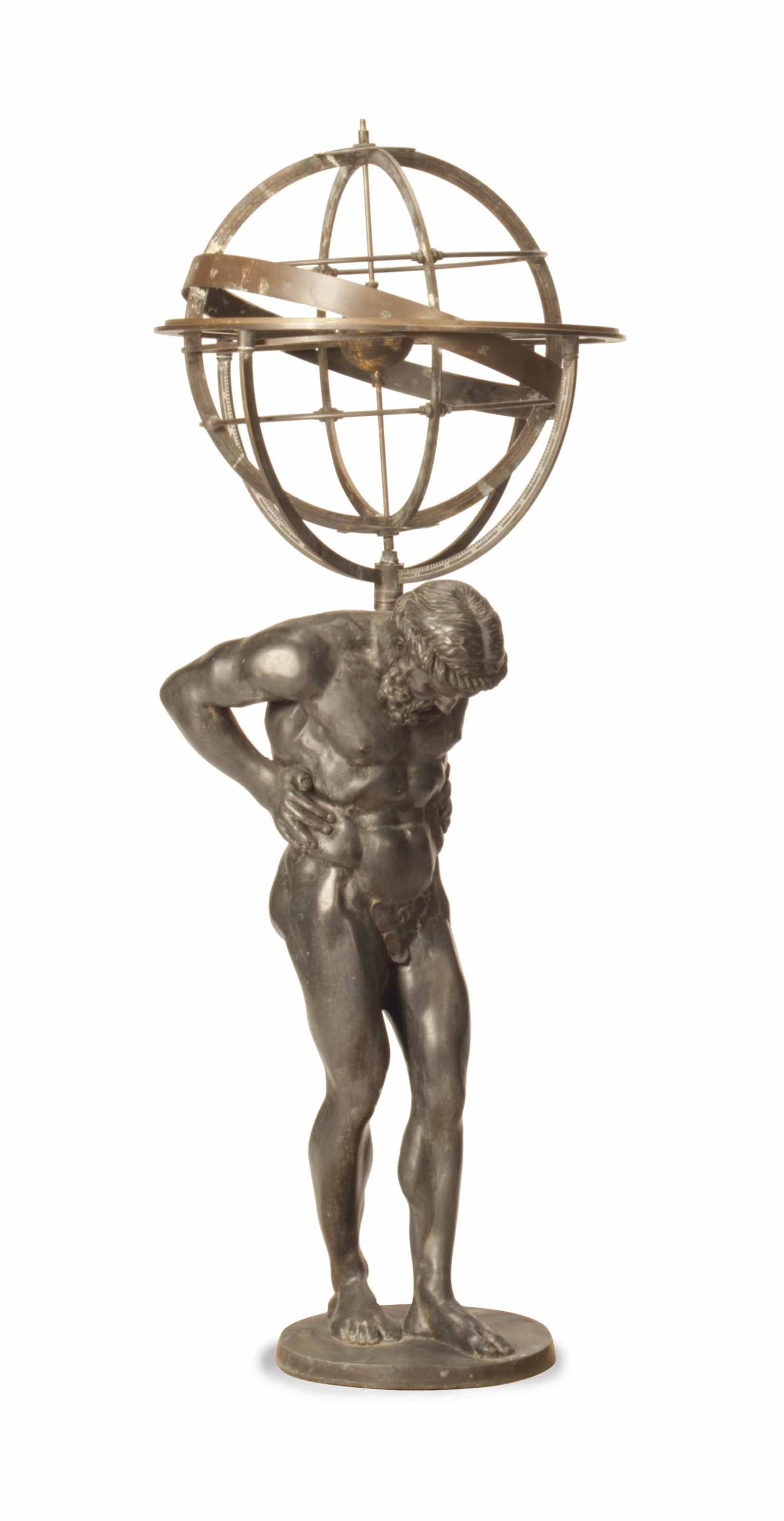 Atlas Statues For Sale A Patinated Metal Garden Statue Of Atlas 20th Century
