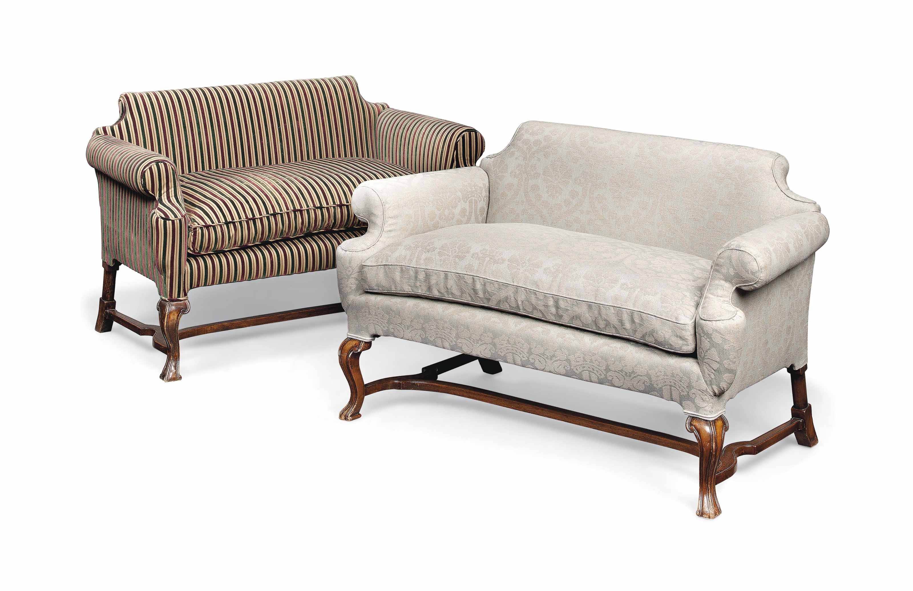 Sofa Queen Anne A Pair Of Queen Anne Style Small Sofas One Circa 1900 One Later
