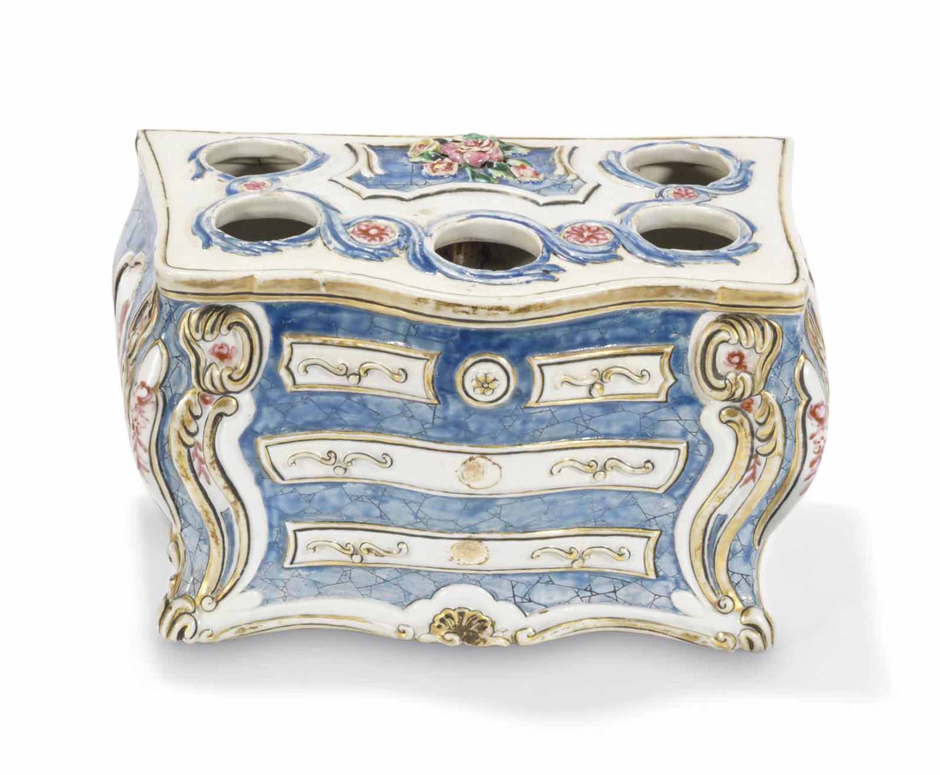 Commode Rose A Chinese Famille Rose Bombe Commode Form Bough Pot Qianlong