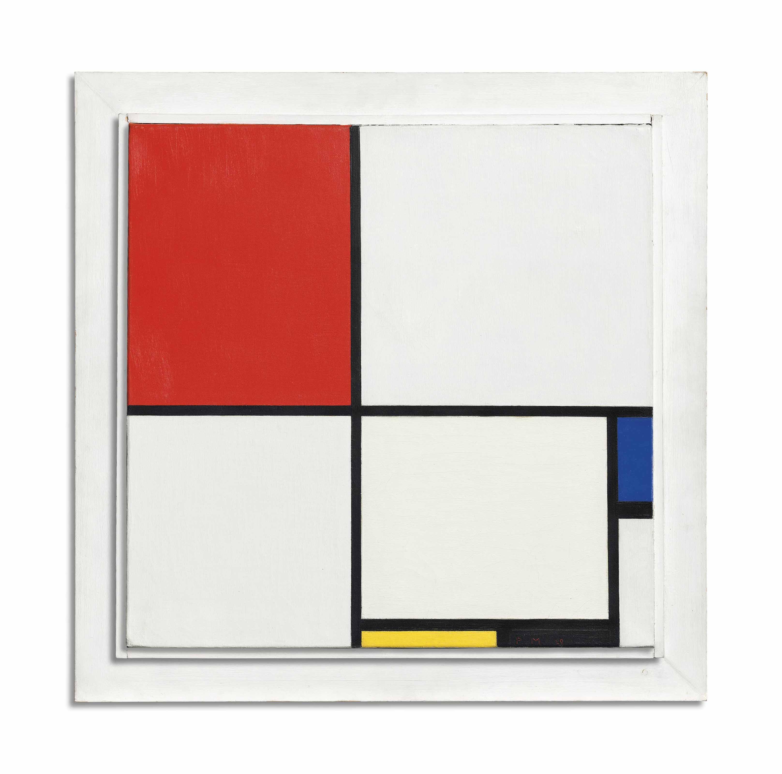 Tableau Moderne Vertical Piet Mondrian 1872 1944 Composition No Iii With Red Blue